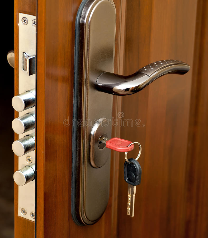 Fechamento de porta imagens de stock