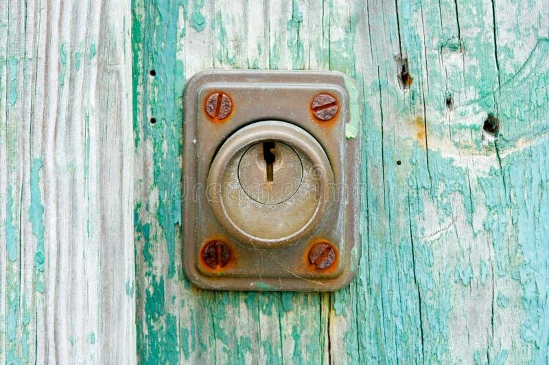 Fechamento oxidado foto de stock
