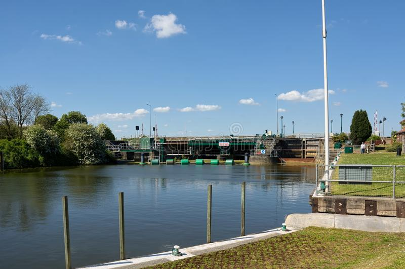 Fechamento sul de Ferriby Rio Ancholme Lincolnshire Reino Unido fotos de stock royalty free