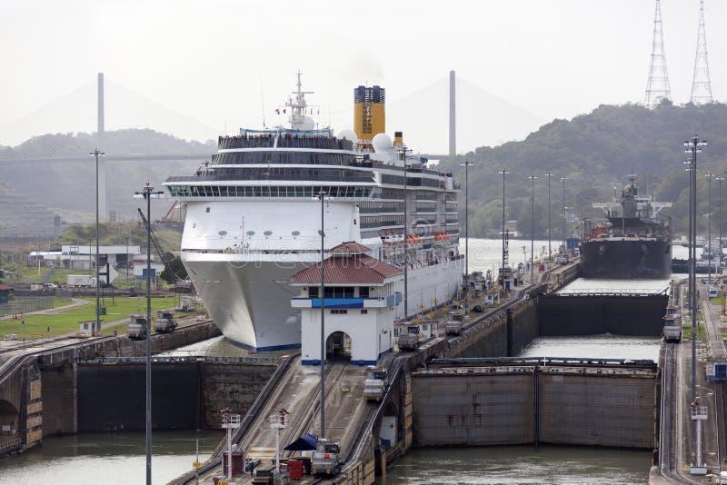 Fechamentos de Gatun do canal de Panamá imagem de stock royalty free