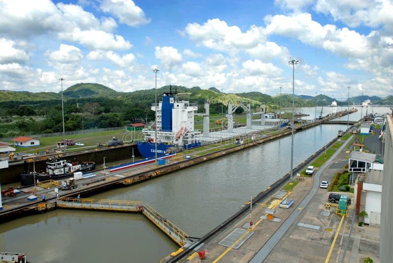 Fechamentos do canal de Panamá imagem de stock