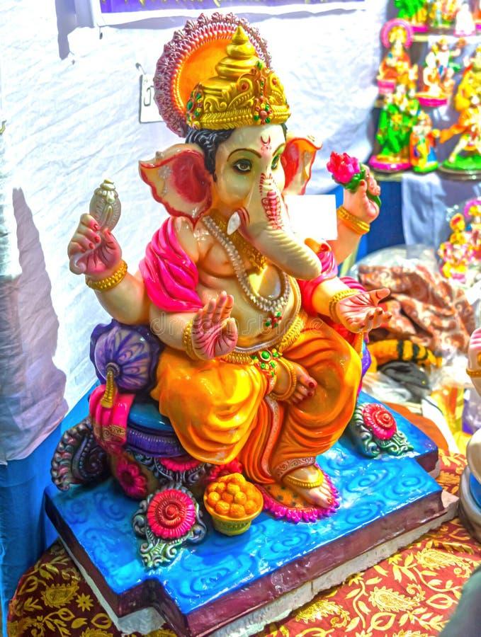 Fechar O Colorido Lord Ganesha Idol foto de stock royalty free