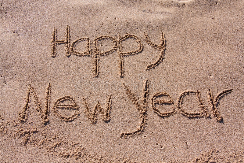 Feche acima, ano novo feliz foto de stock