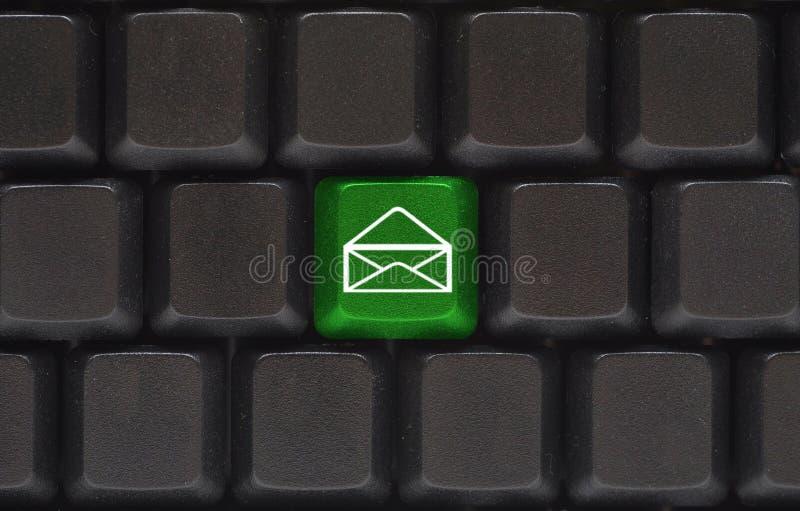 Feche acima com tecla do email foto de stock