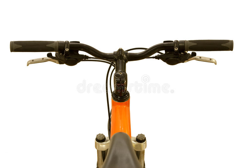 Feche acima da barra da bicicleta fotografia de stock