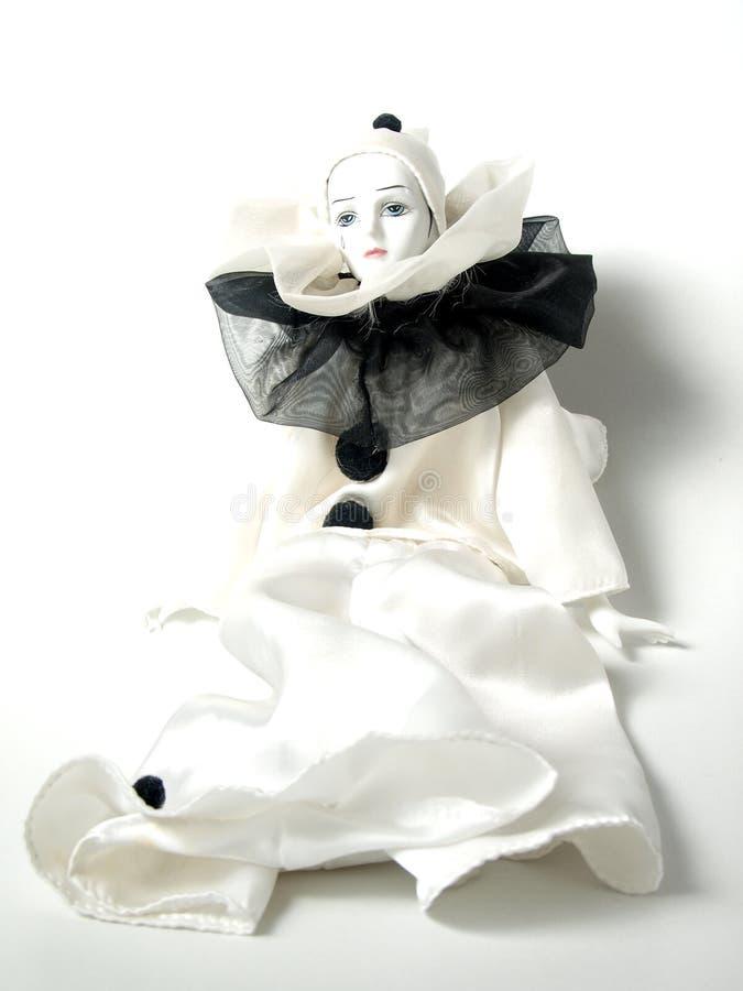 Feche acima da boneca do palhaço da porcelana imagem de stock royalty free
