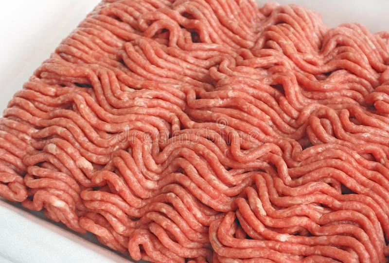 Feche acima da carne picada magra foto de stock