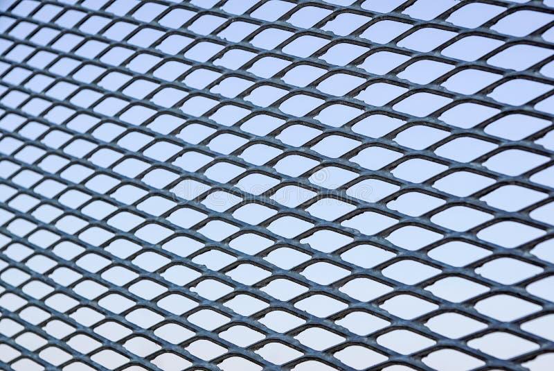 Feche acima da cerca Chain Engranzamento do metal Foco seletivo imagens de stock royalty free