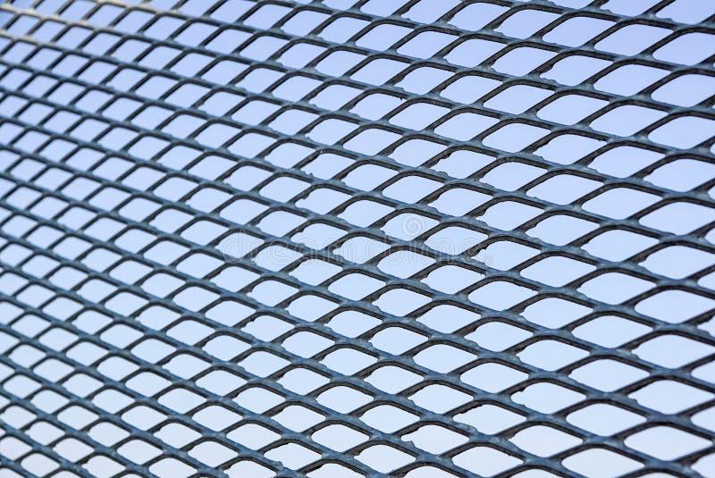 Feche acima da cerca Chain Engranzamento do metal Foco seletivo imagem de stock