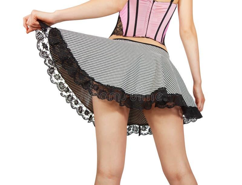 Feche acima da empregada doméstica nova 'sexy' imagens de stock royalty free