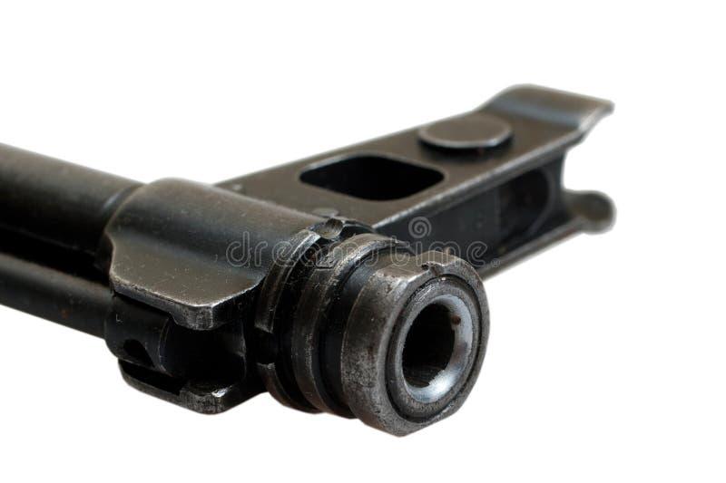 Feche acima da espingarda de assalto do Kalashnikov da vista fotos de stock