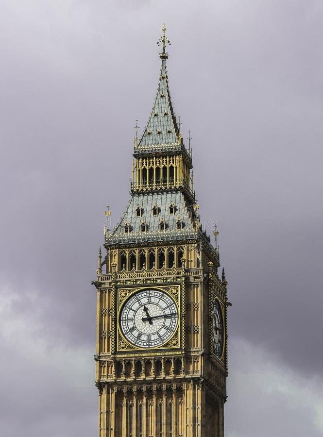 Feche acima da face do relógio de Big Ben fotografia de stock