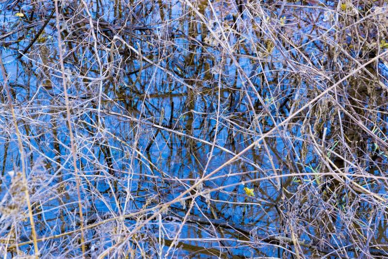 Feche acima da foto da reflexão abstrata colorida da água fotografia de stock royalty free
