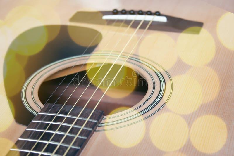 Feche acima da guitarra foto de stock royalty free