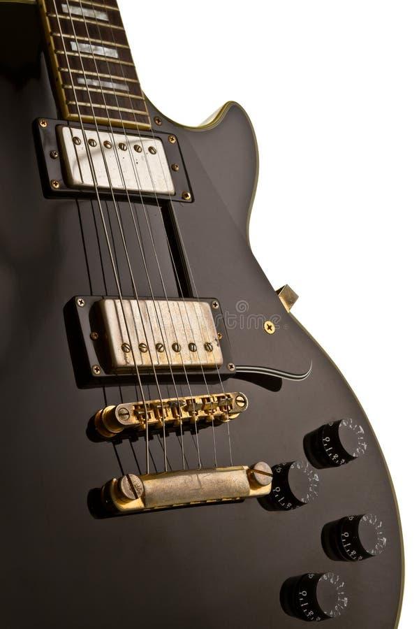 Feche acima da guitarra de Les Paul imagens de stock