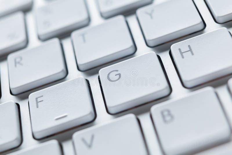 Feche acima da ideia das chaves do teclado do portátil foto de stock royalty free