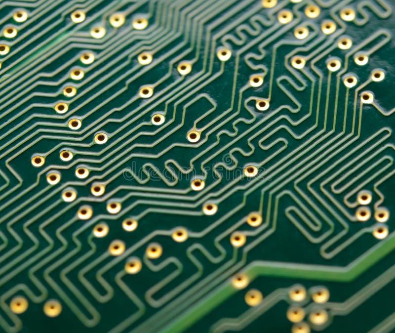 Feche acima da imagem da placa de circuito eletrônico E fotos de stock