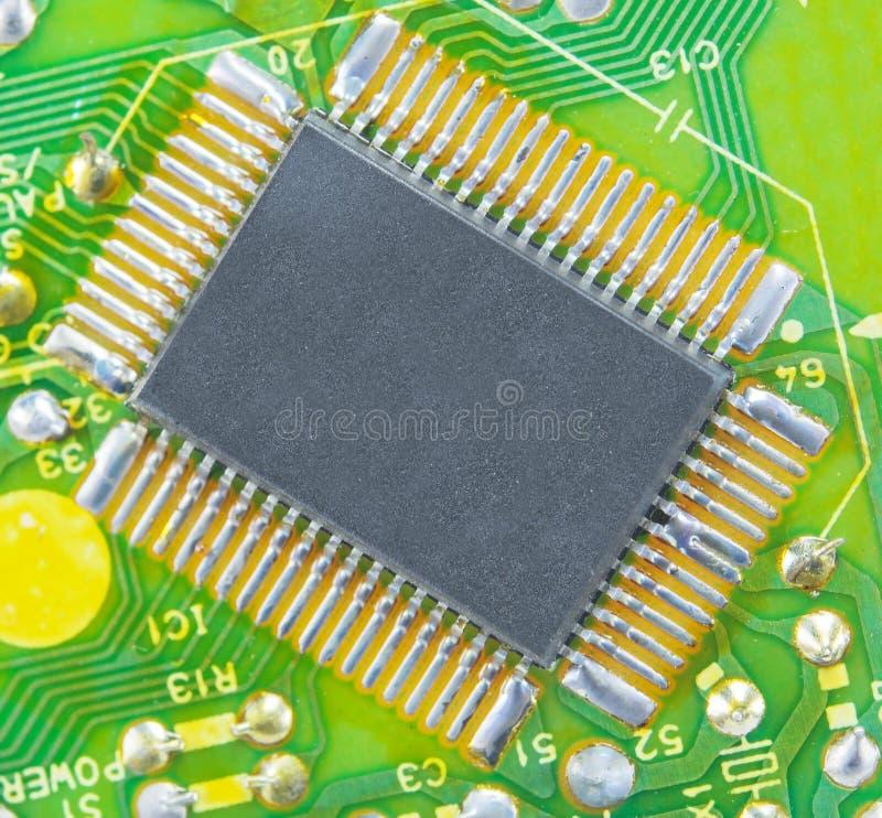 Feche acima da imagem da placa de circuito eletrônico imagem de stock royalty free