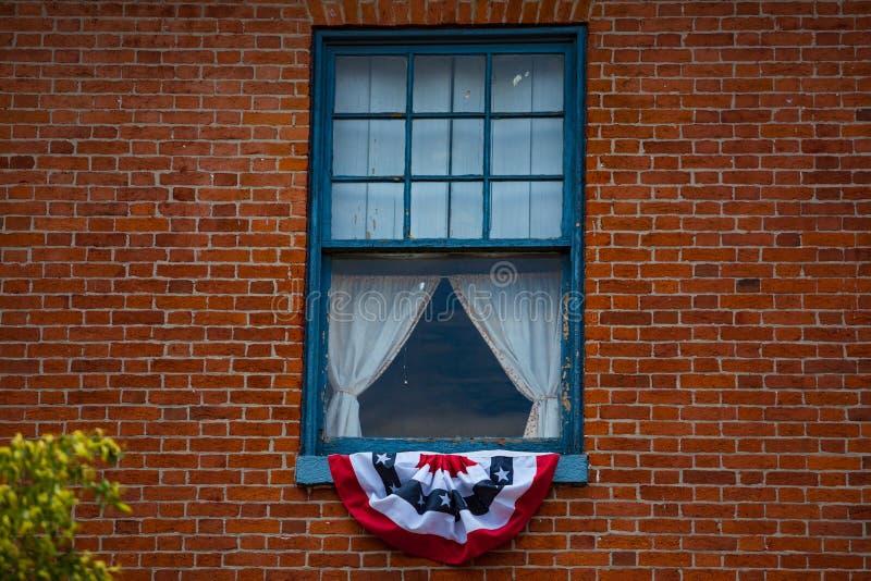 Feche acima da janela que marca Lincoln Room imagens de stock