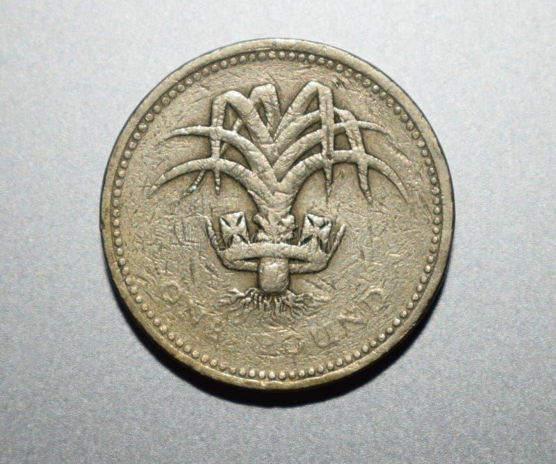 Feche acima da moeda com fundo de prata imagens de stock