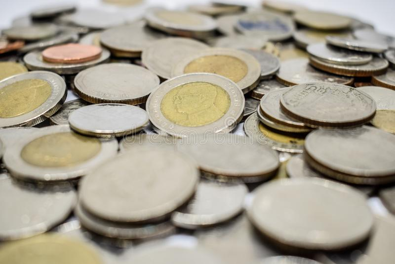 feche acima da moeda tailandesa imagem de stock royalty free