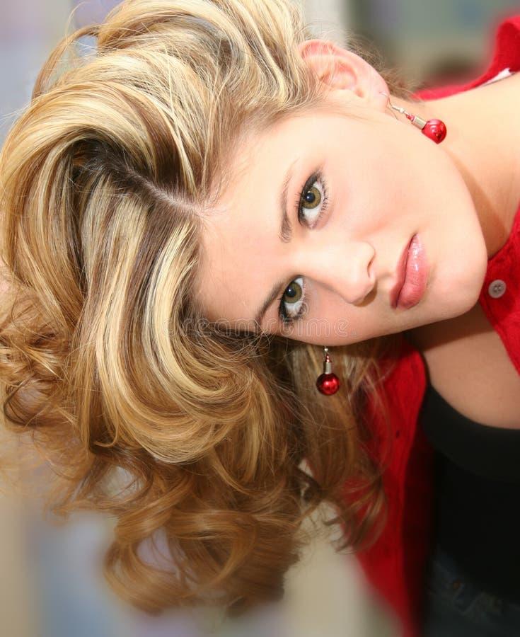 Feche acima da mulher nova bonita fotos de stock royalty free