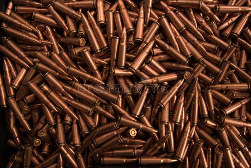 Feche acima da munição imagens de stock royalty free