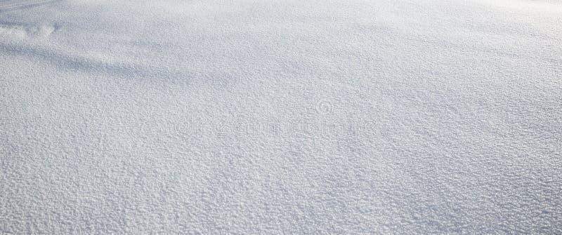 Feche acima da neve branca fotos de stock royalty free