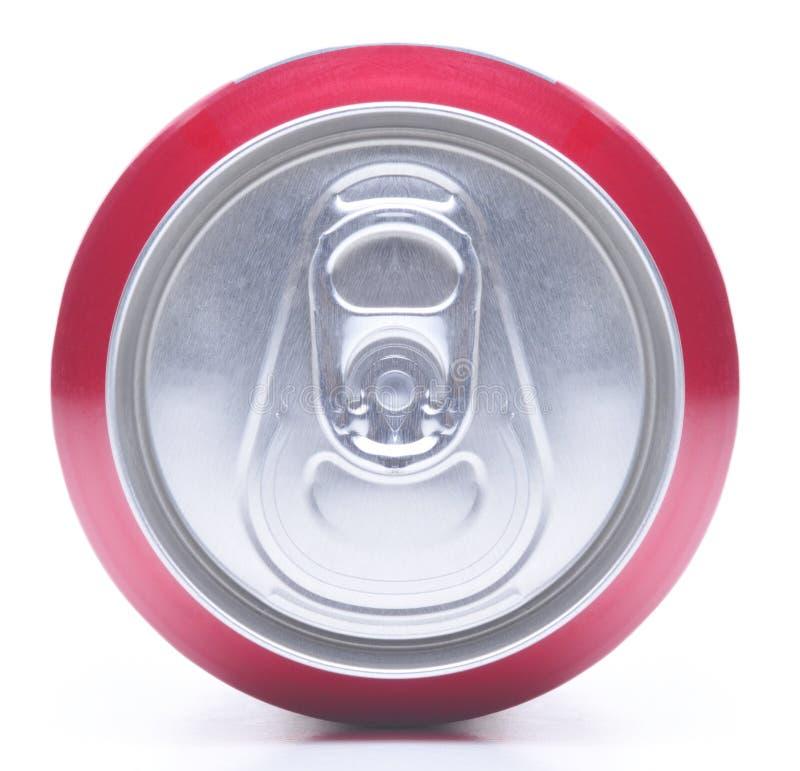 Feche acima da parte superior da lata de soda fotos de stock royalty free