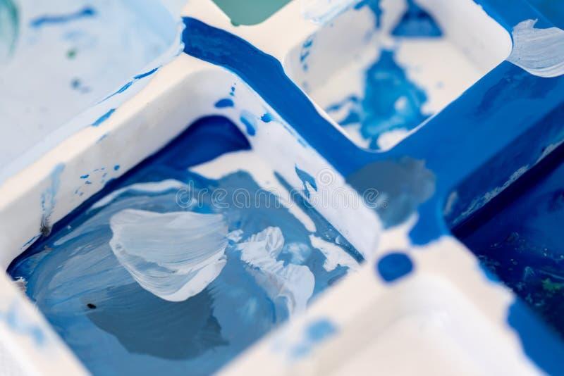 Feche acima da pintura, dos testes padr?es ou dos fundos diferentes de ?leo da cor de v?rias cores imagens de stock royalty free