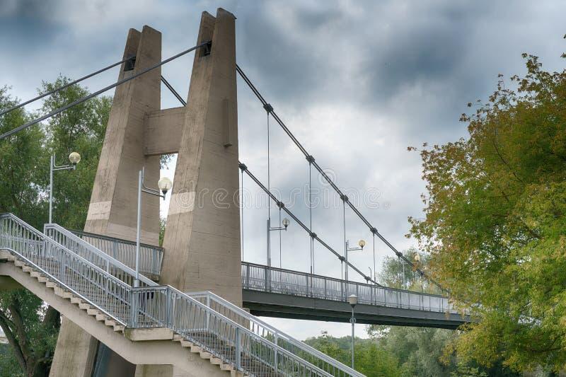 Feche acima da ponte ficada cabo foto de stock royalty free
