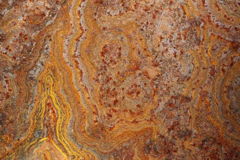 Feche acima da superfície de metal áspera corroída oxidada 1 do grunge fotografia de stock