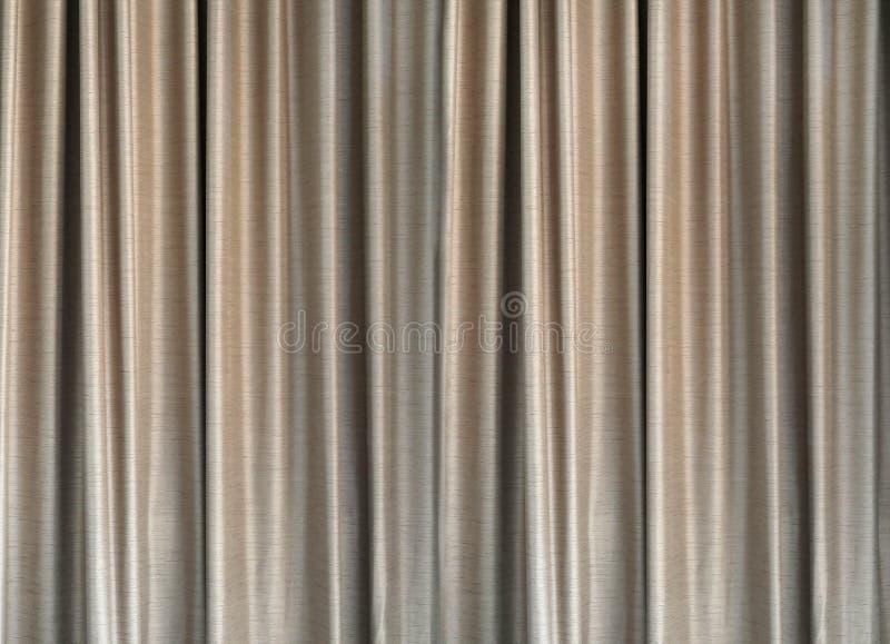 Feche acima da textura cinzenta do fundo da cortina imagem de stock
