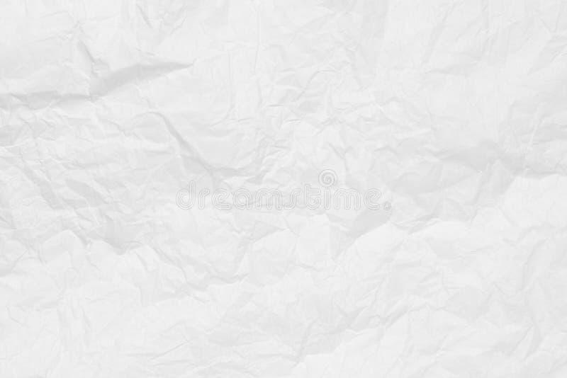 Feche acima da textura do papel amarrotado branco fotos de stock