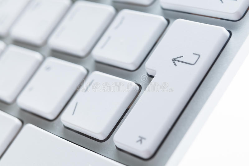 Feche acima da vista das teclas do teclado de computador fotografia de stock royalty free