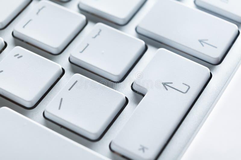 Feche acima da vista das teclas do teclado do portátil fotos de stock