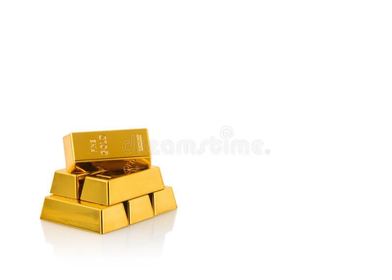 Feche acima das barras de ouro imagem de stock