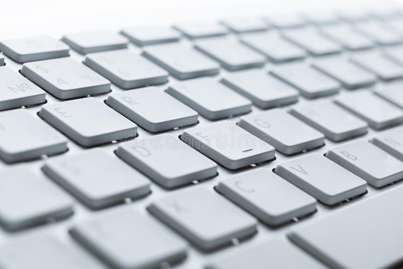 Feche acima das teclas do teclado de computador imagem de stock