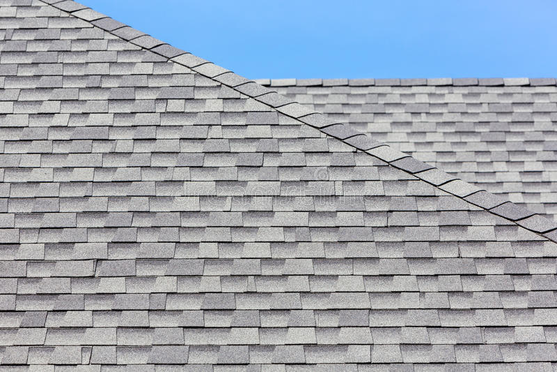 Feche acima das telhas de telhado de borracha novas fotografia de stock royalty free
