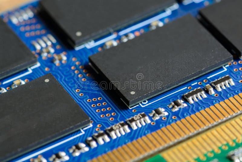 Feche acima de RAM Computer Memory Chip Modul foto de stock royalty free