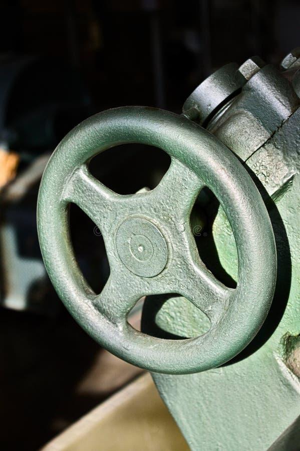 Feche acima de um detalhe da máquina, roda imagem de stock royalty free