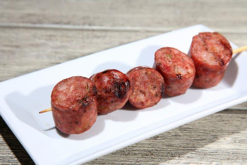 Download Salsicha De Carne De Porco Em Um Skewer Imagem de Stock - Imagem de cozinhado, receita: 29832223