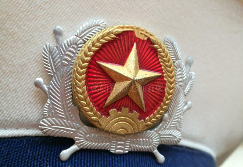 Feche acima do chapéu da marinha de Vietname fotografia de stock