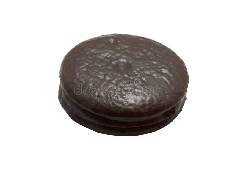 Feche acima do chocolate Mini Pie fotos de stock