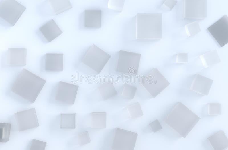 Feche acima do cubo de gelo no fundo imagem de stock