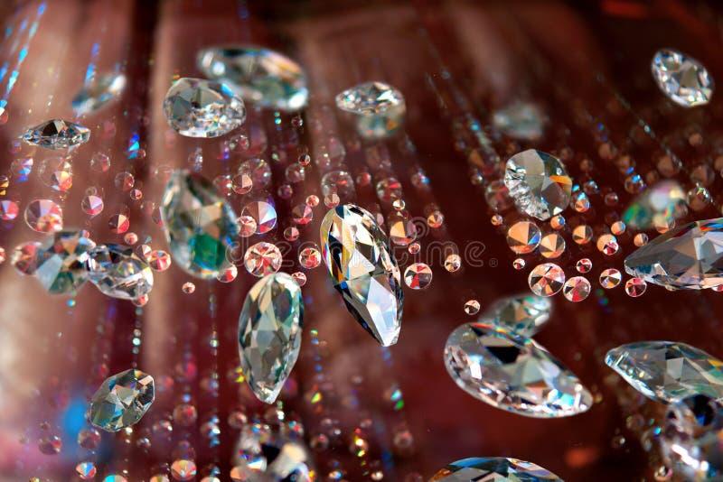 Diamantes Sparkling imagens de stock