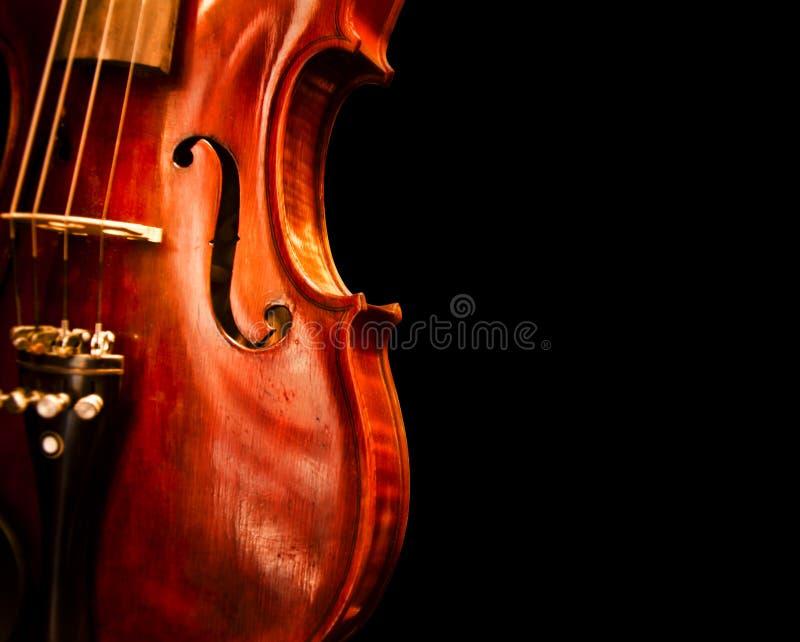 Feche acima do espaço da cópia do violino fotografia de stock royalty free
