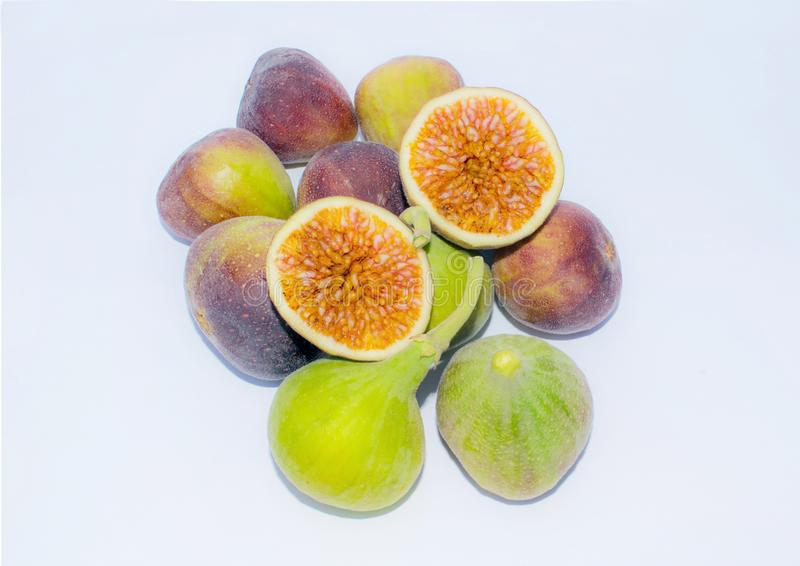 Feche acima do fruto fresco do figo, cortado imagens de stock