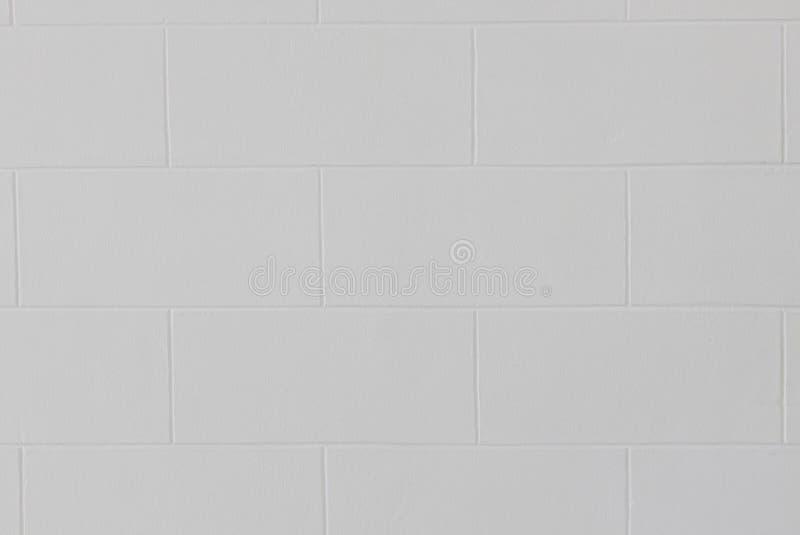 Feche acima do fundo branco moderno da textura da parede ou do assoalho de tijolo do bloco fotos de stock