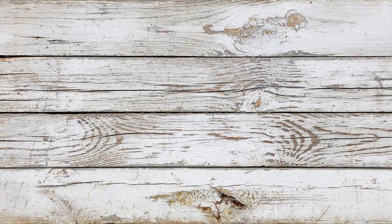 Feche acima do fundo de pranchas de madeira pintadas branco fotos de stock royalty free